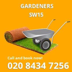 SW15 gardeners Putney